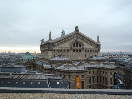 garnier: Paris, France - December 9, 2012: top view of Opera Garnier in Paris, France. Opera Garnier is a popular landmark among tourists in Paris, the most visited city worldwide.