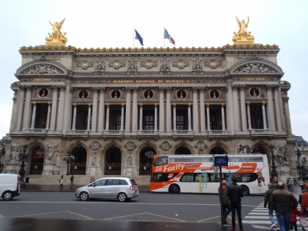 musique: Paris, France - December 9, 2012; exterior of the Paris academie nationale de musique, one of the most famous music academy of the world