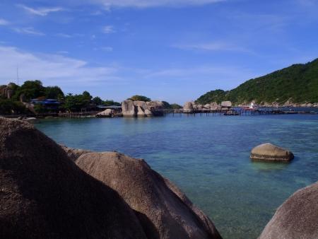 nang: Beach scene at Nang Yuan Island at Koh Tao, Thailand