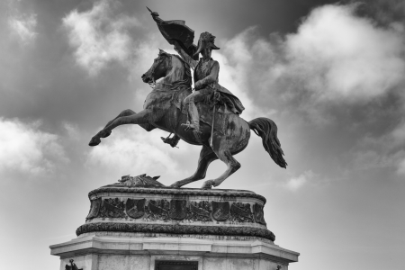 archduke: Statue of Archduke Charles. Statue was created by local sculptor Anton Dominik Fernkorn and presented to public in 1860 on the Heldenplatz in Vienna. Archduke Charles was an Austrian field-marshal, the third son of emperor Leopold II and his wife Infanta