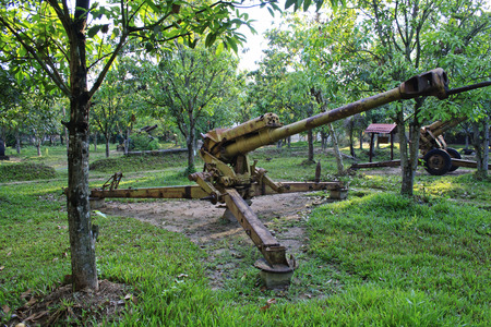 firepower: artillery pieces left rusting in the jungle in cambodia dating from the war against the khmer rouge