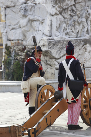 sarzana: Sarzana, Italy - September 28, 2013  commemorative and historical fest of the Napoleonic Wars which is celebrated every two years in the medieval town of Sarzana, Liguria Italy  It is called Sarzana Napoleon festival  Editorial