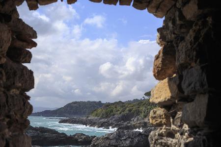 Portovenere cliff Stockfoto