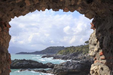 Tellaro vistas a la costa Foto de archivo