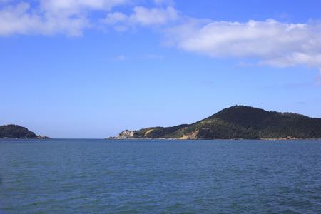 Vista de la isla de Palmaria, Italia Foto de archivo