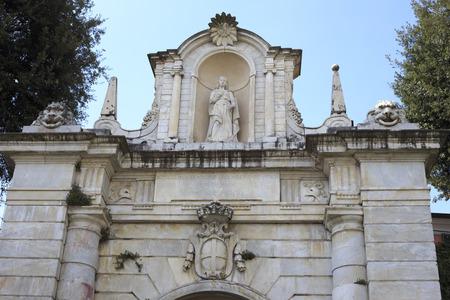 romana: Porta Romana in Sarzana, Italy Stock Photo