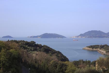 Palmaria y Tino islas frente a La Spezia