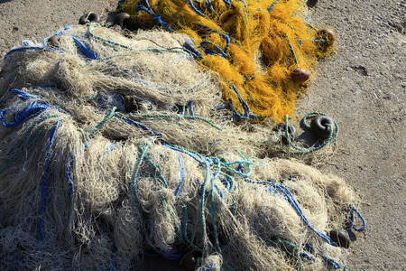 habour: Fishnet in the habour Stock Photo
