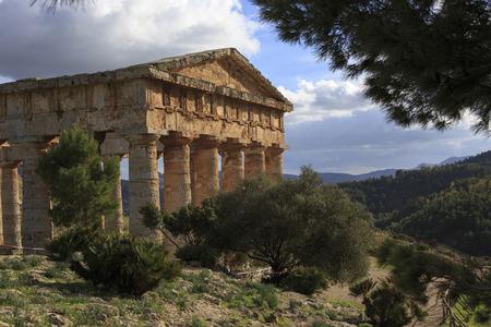 segesta: Segesta Greek temple in Sicily Stock Photo