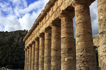 segesta: Segesta temple in winter, Sicily, Italy Stock Photo