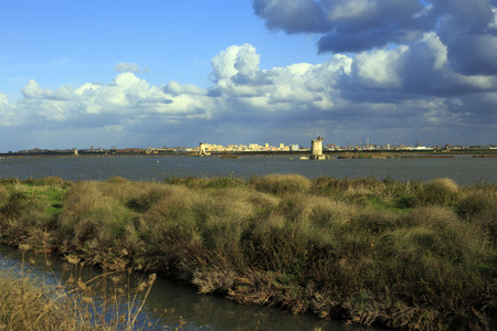 trapani: Beautiful view of the Saline, Trapani, Sicily Stock Photo