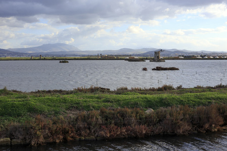 Saline of Trapani in Italy photo