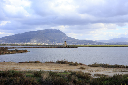 trapani: Saline of Trapani in Italy