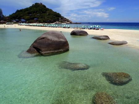 dive trip: beautiful beach KOH NANGYUAN Island Surat Thani Thaland Stock Photo