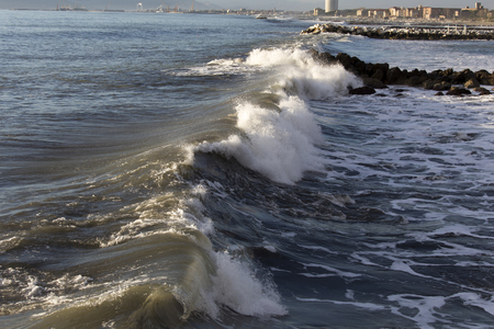 adriatic sea: waves of the Adriatic Sea in Italy