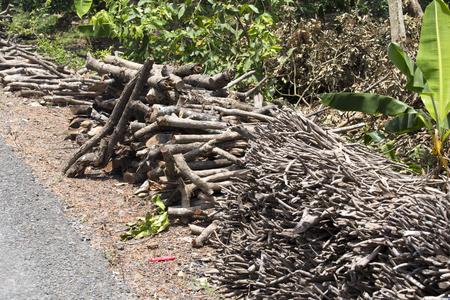 wood pile: wood pile on the street