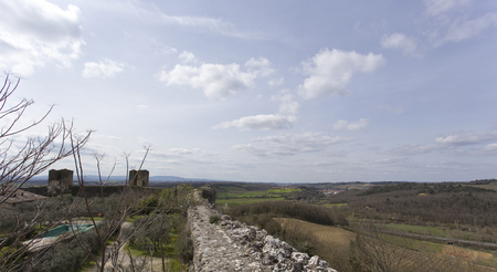 walled: Monteriggioni medieval walled town in Tuscany, Italy
