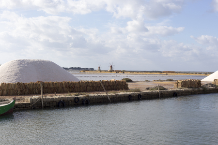 saltmine: Salt-mine in Trapani, Sicily in south of Italy