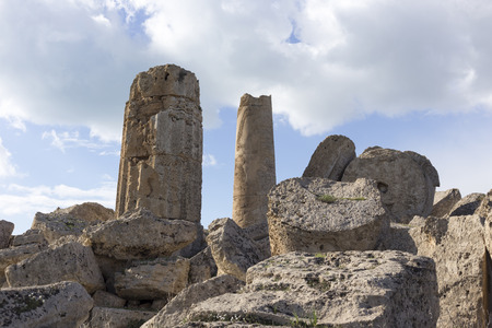 greek temple: Ruins of greek temple, Selinunte, Sicily, Italy