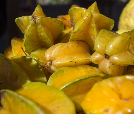 star fruit: Delicious star fruit lay in cluster on table
