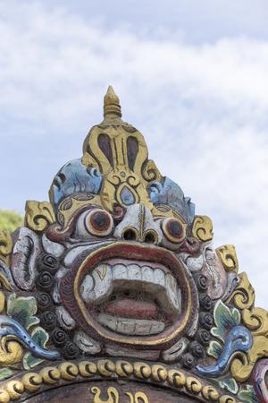 benevolent: Barong the benevolent beast that scares bad spirits away Bali Stock Photo