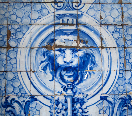 luxuriance: Oriental decoration in blue color close up