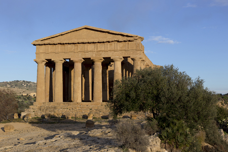 agrigento: Agrigento temple in Sicily, south of Italy Stock Photo
