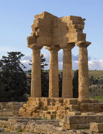 agrigento: Ancient Greek Temple , Valley of the Temples, Agrigento, Sicily. Italy