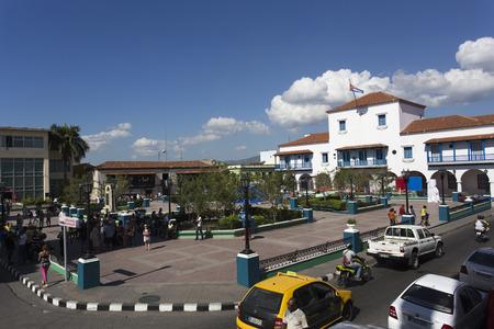 holguin: Holguin, Cuba - December 29, 2015: Street view of square in Holguin, Cuba Editorial