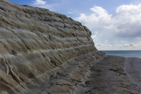 scala: white cliff of Scala dei Turchi (Turkish Staircase) near Agrigento, Sicily