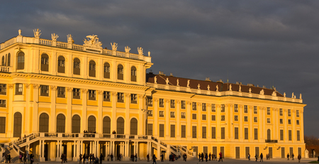 schloss schonbrunn: Wien, Austria - November 2, 2013: Schloss Schoenbrunn (meaning Schoenbrunn Palace) imperial summer residence