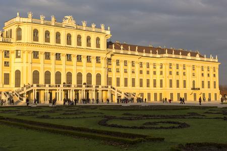 wien: Wien, Austria - November 2, 2013: Schloss Schoenbrunn (meaning Schoenbrunn Palace) imperial summer residence