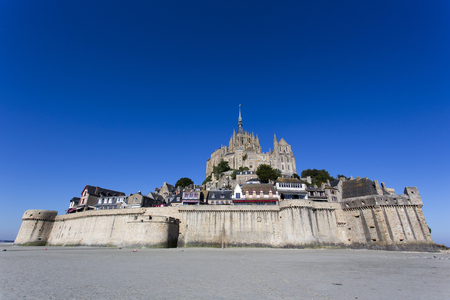 mont: Mont St Michel, France - August 16, 2016: view of the famous Mont St Michel island