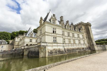 Villandry, France - August 11, 2016:  Villandry Castle view, Indre-et-Loire, Centre, France