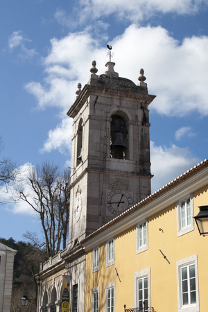 sintra: Sintra, Portugal - February 16, 2014: church in Sintra view from the street
