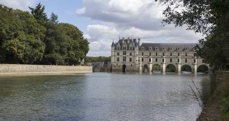 Chenonceaux, France - August 09, 2016: Chateau de Chenonceau royal medieval french castle.