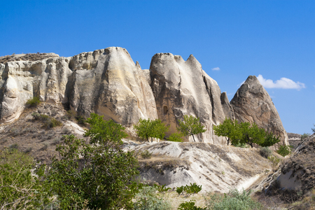 goreme landscape in Cappadocia, Turkey Stock Photo