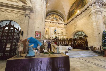 Havana, Cuba - December 30, 2015: Interior of the Cathedral of Havana, a religious landmark and touristic destination in Cuba