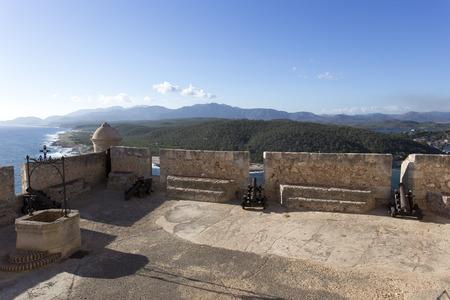 Santiago, Cuba - December 29, 2015: visiting El Morro castle at Santiago de Cuba, Cuba Editorial