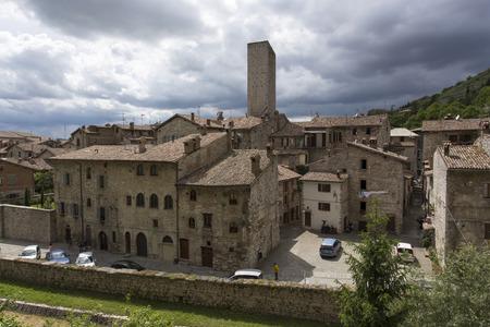 Gubbio, Italy - June 04, 2016: Old town Gubbio, Umbria, Italy
