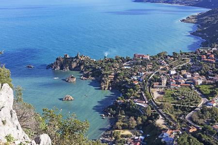 coastline of Sicily in Italy view sunny day