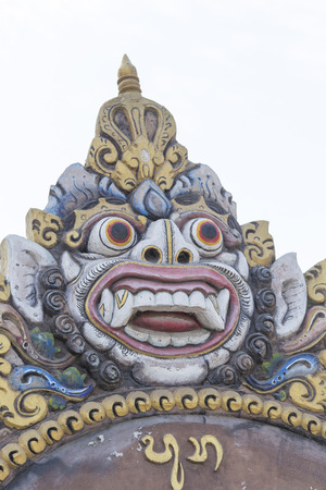 Bali, Indonesia - August 08, 2016: a typical Balinese statue close up