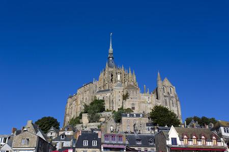 Mont Saint Michel, France - August 16, 2016: Mont Saint Michel Abbey. France  Stock Photo