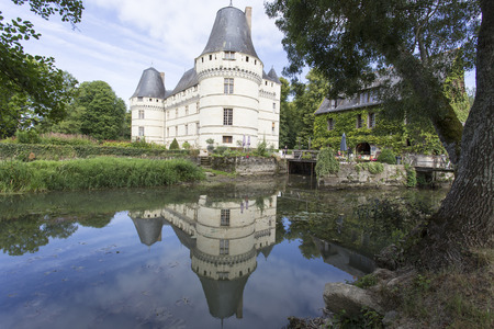Loire valley, France - August 11, 2016: The chateau de lIslette, France. This Renaissance castle is located in the Loire Valley, was built in the 16th century and is a tourist attraction.