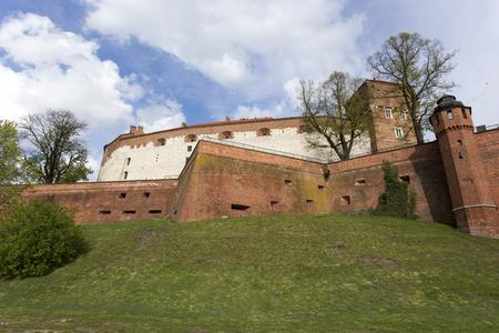 Krakow, Poland - April 22, 2017: royal Wawel Castle in Krakow, Poland