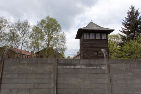 Oswiecim, Poland - April 24, 2017: German concentration camp Auschwitz in Poland in summer day
