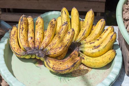 Banana at market in Indonesia, close up