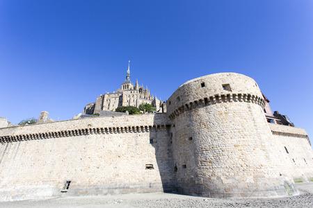 Mont Saint Michel, France - August 16, 2016: The fortress Mont Saint Michel in France