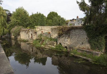 The small river view in Bayeux, France