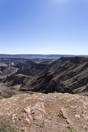 Beautiful view of Fishriver canyon in Namibia